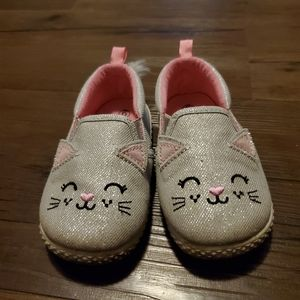 Baby Girl Kitten Shoes with Fluffy Tails